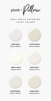The Best White Paint Colors for Exteriors – Plank and Pillow