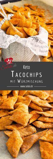 Knusprige Taco-Chips mit wenig Kohlenhydraten –