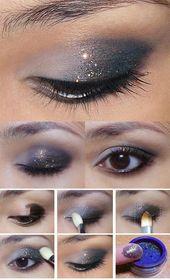 35 Glitter Eye Makeup Tutorials – Subtle, Glitzy New Year Glitter Eye – Step By …