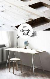 DIY Storage Schreibtisch