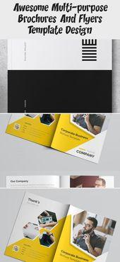 Yellow Business Bifold Brochure #brochureGreen #brochureArchitecture #brochureEmpresarial #brochureTechnology