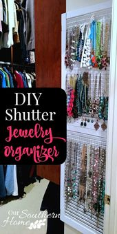 What a cool idea! Old thrift store shutters are pe…
