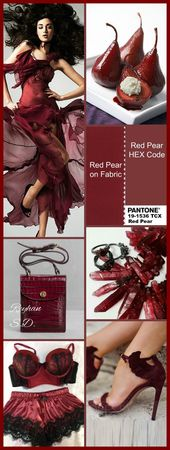 ''Red Pear : Pantone Fall/ Winter 2018-2019 Color Trends '' by R...
