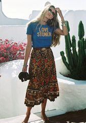 Boho style #graphictee #boho #skirt #freespirit #style