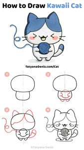 How to draw kawaii cat (step-by-step drawing tutorial)