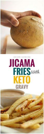 Jicama au four avec sauce facile à kéto