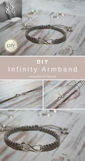 DIY Armband mit Unendlichkeitssymbol
