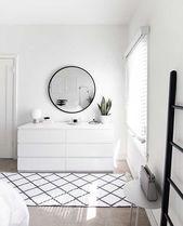 weiß-kommode-minimal-schlafzimmer – #decoracion #homedecor #furniture – Deko 2019