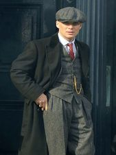 Cillian Murphy Black Coat in  Peaky Blinders