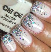 60+ Ideas For Nails Design Winter White Sparkle