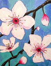 Hey Check Out Cherry Blossoms Up Close At Dead Poet S Espresso Ltd Yaymaker Painting Artist Painting Painting Supplies