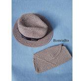 Set ist Bast Stroh Sonnenhut Fedora + Clutch für Frauen. Häkeln Sie cappuccino graue Farbe Geiger Hut und Umhängetasche Spitze. Panama und Geldbörse   – accesorios