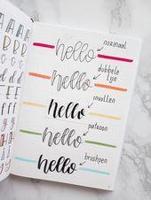 Einfache Kalligraphietricks und 25 einfache Übers…