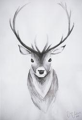 #scandinavian #nordic #interior #deer #watercolor