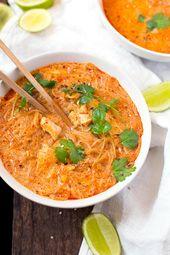 Soupe thaï au saumon de 20 minutes