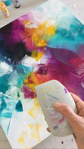 塗装くさびを使用したアクリル塗装  – DIY