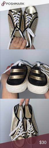bebe sneakers bebe vogue gold and black sneakers bebe Sneakers Sneakers
