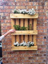 jardín vertical plantas ideas con palets
