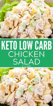 Keto Chicken Salad makes the best lunch idea! it's so easy to make this low carb… – Gluten Free Dinners
