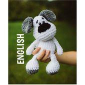PDF Crochet Sample ENGLISH Evis the Canine Amigurumi haekelnundkuscheln