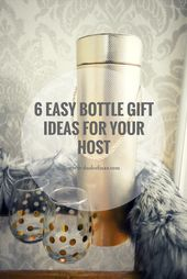 6 Simple Bottle Present Concepts for Your Host