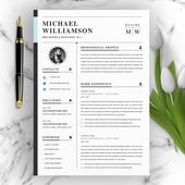 Illustrator Resume Resume Template, Professional Resume, CV Template, Modern Resume, Resume, Resume Word, Apple Page Resume