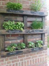 Sie können Ihre Palettenkübel mit hübschen Details individualisieren   – Garten Dekoration