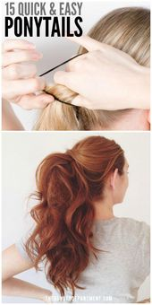 15 Quick & Cute Ponytails Perfect for Moms #WeddingHairstylesForHair