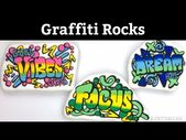 Graffiti Style Painted Rocks Tutorial – YouTube   – Stone crafts