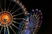 Photographic Print: Big Wheel and Merry-Go-Round at the German Oktoberfest, Munich by shootandwin : 24x16in