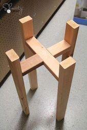 Kostenlose Holzbearbeitungspläne – DIY Plant Stand. #DIYHomeSeller #HomeOwners #HomeSellin …