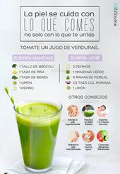 VEGETABLES FOR CARING FOR SKIN #jucie #recipe #smoothies #food #quem …  – Jugo