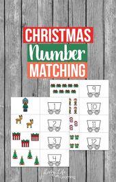 Weihnachten Nummer passend zum ausdrucken – Christmas Activities for Kids