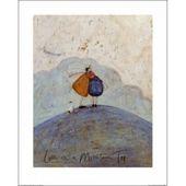 """'Herr. und Frau Senf, liebevolle Umarmung auf einer Bergspitze """"von Sam Toft Painting Print 1Art1"""