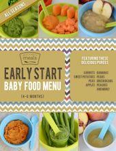 Frühstart-Babynahrungsmenü (4-6 Monate)   – Baby