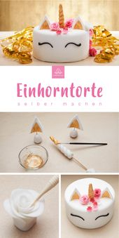Der Einhornkuchen zum Selbermachen mit dem Backset von Cakerella. Jetzt Favorit …   – Geburtstagskuchen