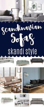 20 spezielle skandinavische Sofas – Skandi Style Interior