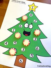 Christmas Tree Learning Activities for Toddlers & PreK – Noël
