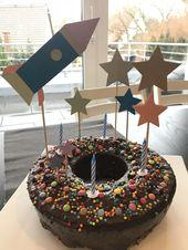 Raketentorte Kindergeburtstag   – Kuchen Kindergeburtstag