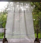 Sheer Off White Leinenvorhang, Gardine, Fenster Vorhang, Schlafzimmer Vorhang, Sichtschutz Vorhang, Französisch Lace Vorhang   – Wiɳɗ◎ω TɽҼɑʈμҼɳʈ IdҼɑʂ