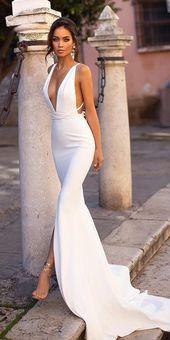 51 Brautkleider für Hochzeiten, Strandhochzeitskleider …