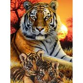 Diamond Portray Full Drill Tiger Cross-Sew DIY Diamond Embroidery