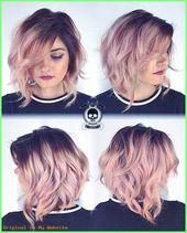 Damen Haarschnitt ideen – 10 hübsche Pastellhaar-Farbideen mit den blonden, silbernen, purpur…