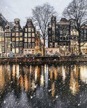 Amsterdam, die Niederlande im Winter – #Amsterdam #Die #hiver #im #Niederlande