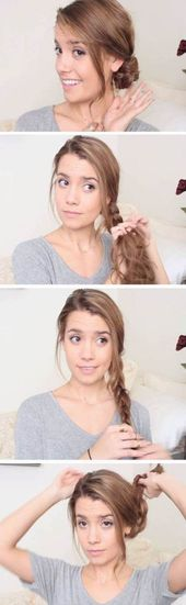48 Trendy Hairstyles For School Lazy,  #Hairstyles #Lazy #School #Trendy