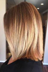 Shoulder Length Bob With Highlights #mediumhair #mediumbob #blondehighlights #shoulderlengthBob