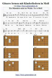 Ein Männlein steht im Walde / Gitarre lernen mit Kinderliedern in Moll – Gitarre spielen lernen