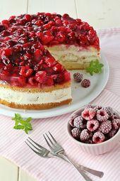 Windbag-Tarte mit Himbeeren, Kuchenauflauf, Modeküchenauflauf, einfachen Tort …   – Kuchen und Muffins
