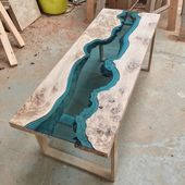 I made a river table