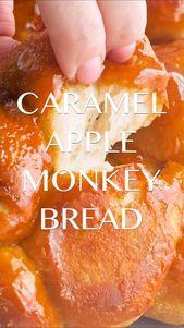 Caramel Apple Monkey Bread Rezept – Ooey gooey klebriges Brot mit Zimt gefüllt …   – cakes